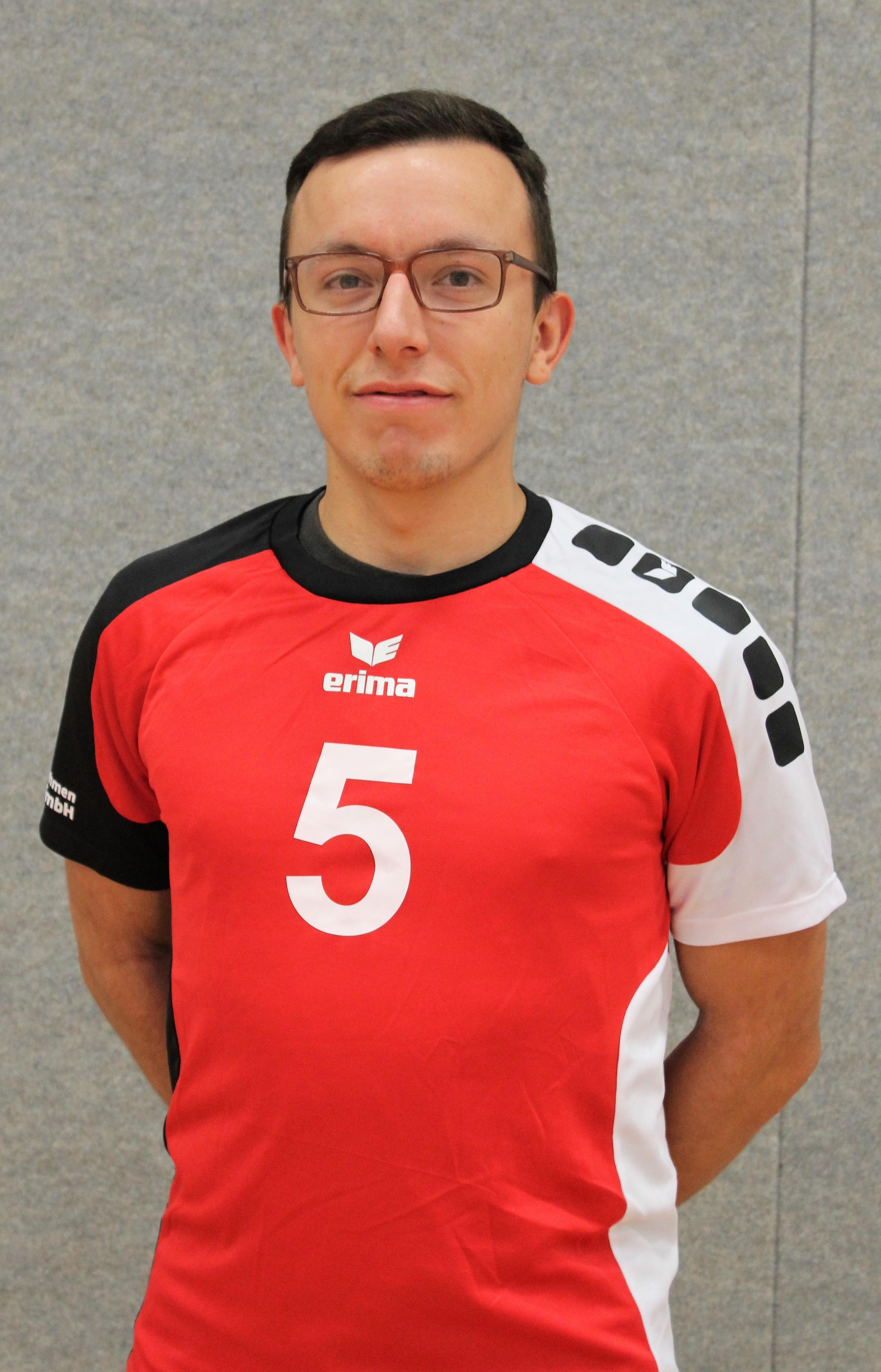 Ricardo Frischke  Trikotnummer: 5  Position: Libero  Größe: 1,72 m